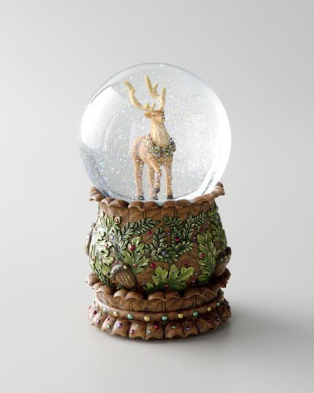 Reindeer Musical Snow Globe