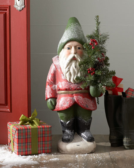 """Bordeaux"" Traditional Gnome Santa Figure"