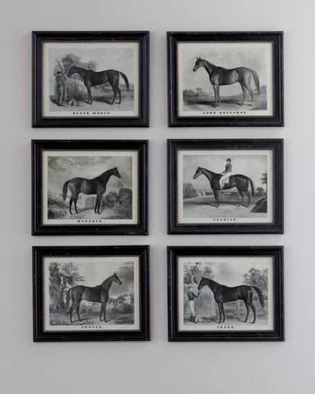 Six Horse Prints