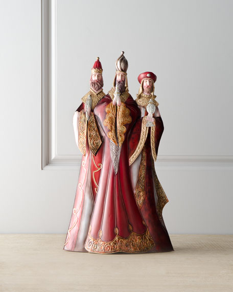 """Bordeaux"" Elegant Three Kings Figure"