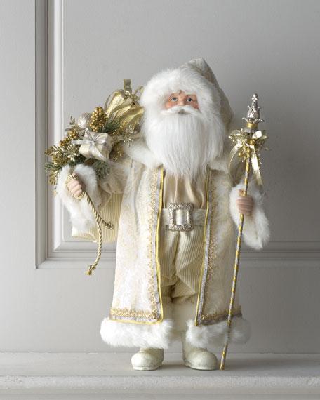 """Champagne Frost"" Santa, 18""T"