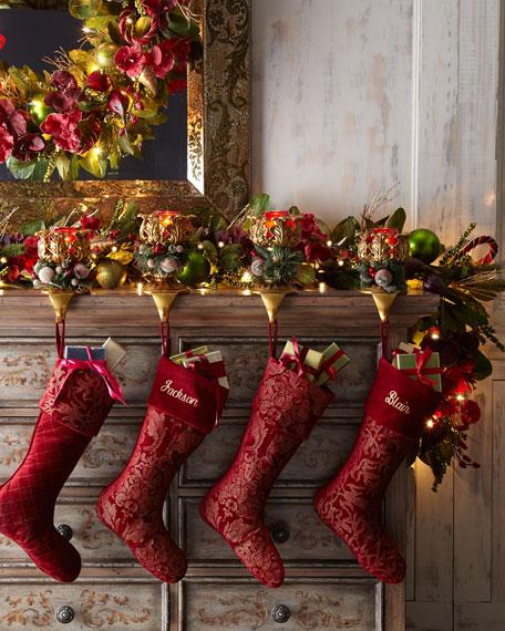 """""""Bordeaux"""" Pre-Lit Christmas Garland"""