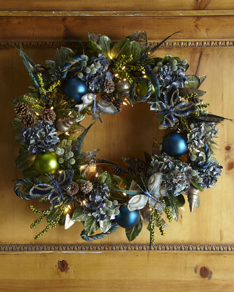 """Blue Spruce"" Pre-Lit Wreath"