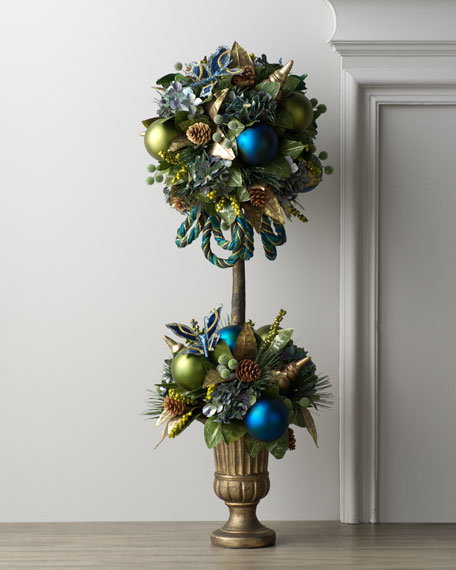 """""""Blue Spruce"""" Holiday Topiary"""