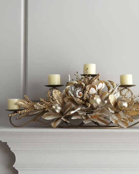 """""""Champagne Frost"""" Candle Rail"""