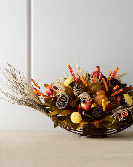 """Harvest"" Oval Centerpiece"