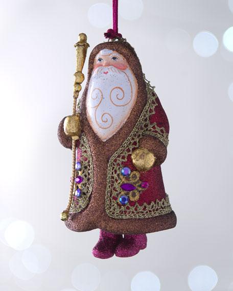 """Bordeaux Bolshoi Santa"" Bell-Shaped Ornament"