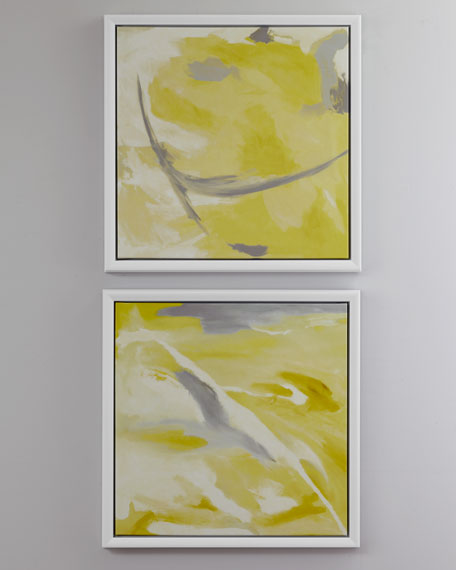 Yellow Abstract Giclees