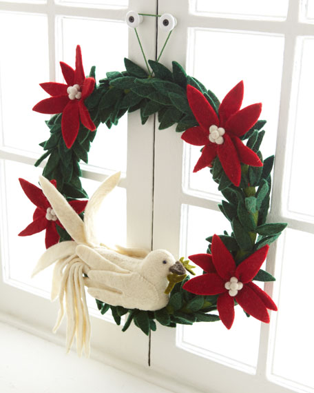 """Artisan"" Dove Christmas Wreath"
