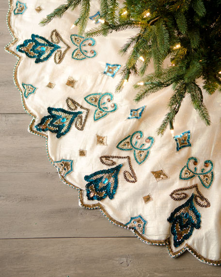 """Blue Spruce"" Royal Gate Christmas Tree Skirt"