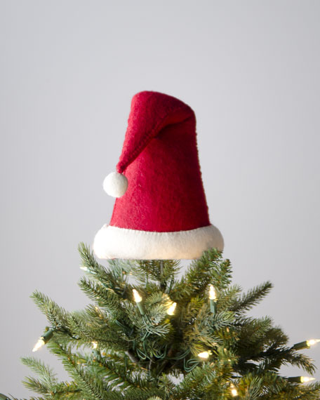 """Artisan"" Santa Hat Christmas Tree Topper"