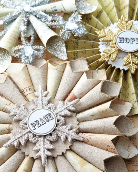 """""""Joyeux Noel"""" Hope, Peace, & Joy Christmas Ornaments"""