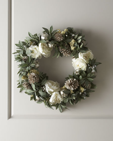 """Joyeux Noel"" Christmas Wreath"