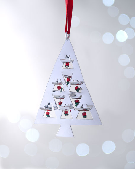 """""""Tree with Berries"""" Christmas Ornament"""