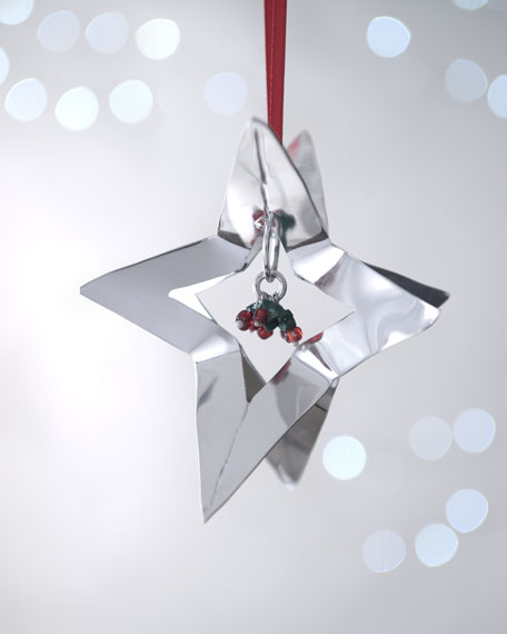 Silver Dimensional Star Christmas Ornament
