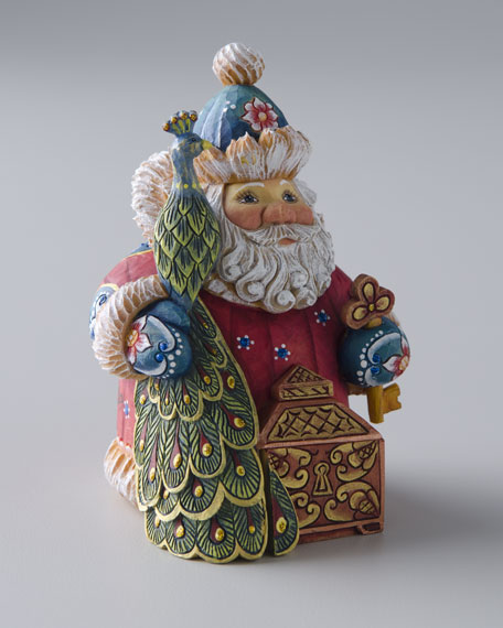 """Peacock Santa"" Sculpture"