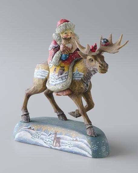 """""""Santa on Moose"""" Figure"""