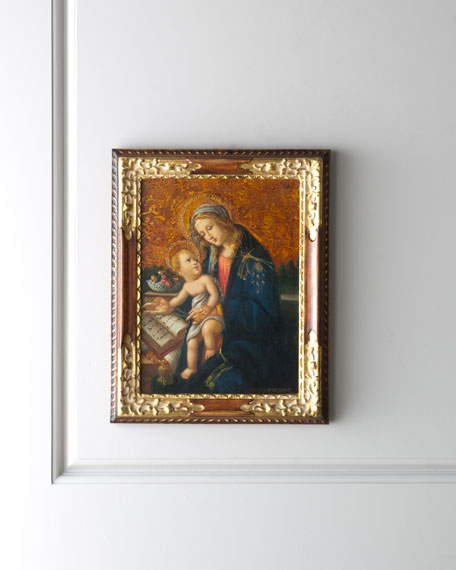 Madonna & Child with Book Painting