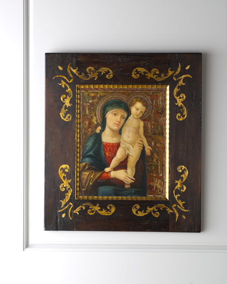 Madonna & Child Painting with Golden Background