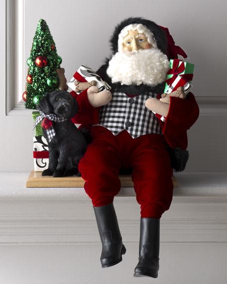 """Christmas Companion"" Sitting Santa"