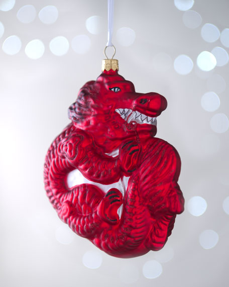 Red Dragon Christmas Ornament