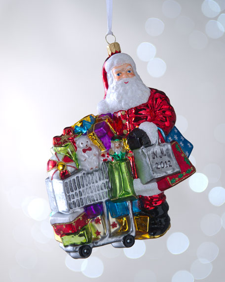 """Shopping Santa"" Christmas Ornament"