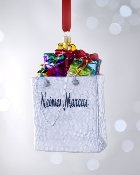 NM Shopping Bag Christmas Ornament