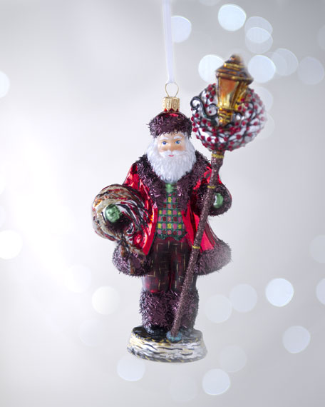 """Alpine Santa"" Christmas Ornament"