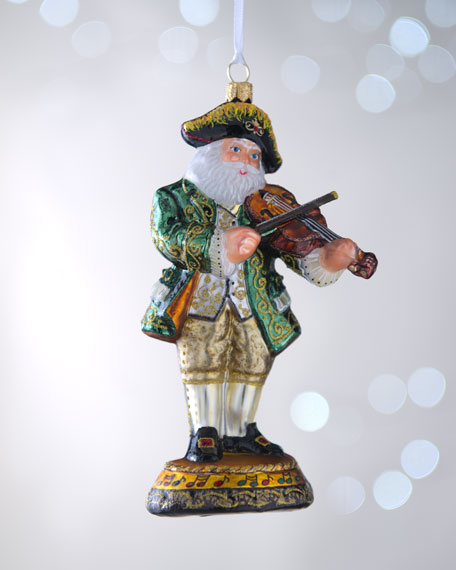 """French Musician Santa"" Christmas Ornament"