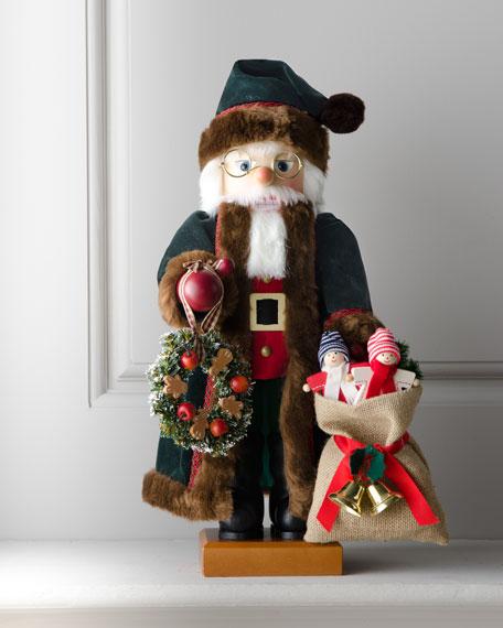 Nutcracker Santa in Green