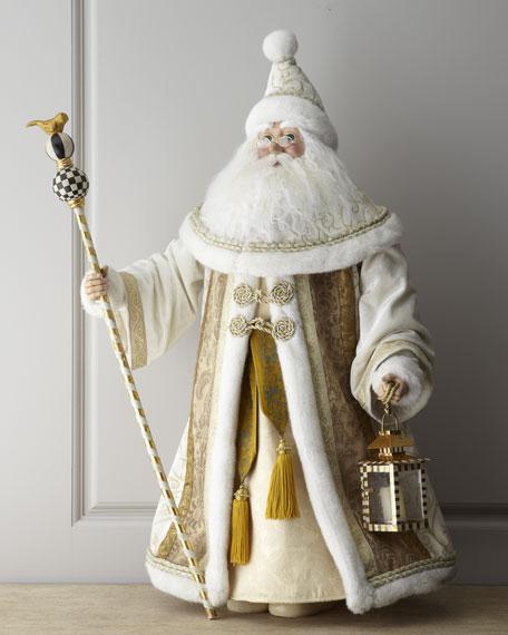 Parchment Check Santa