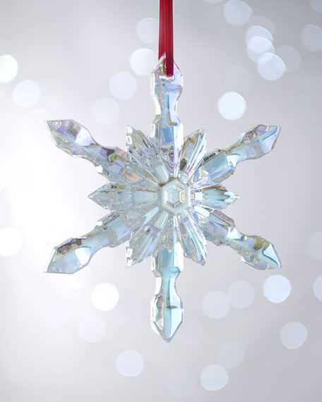 Iridescent Snowflake Christmas Ornament