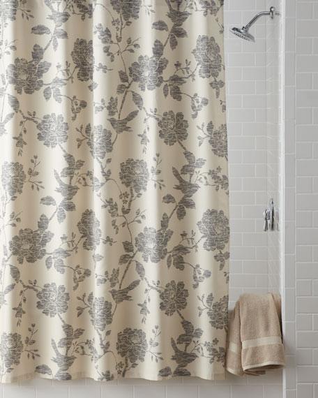 """""""Bliss"""" Bird Shower Curtain"""