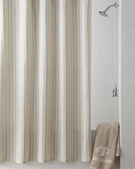 """Cortina"" Stripe Shower Curtain"