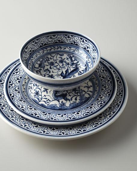 "12-Piece ""Blue Pavoes"" Dinnerware Service"
