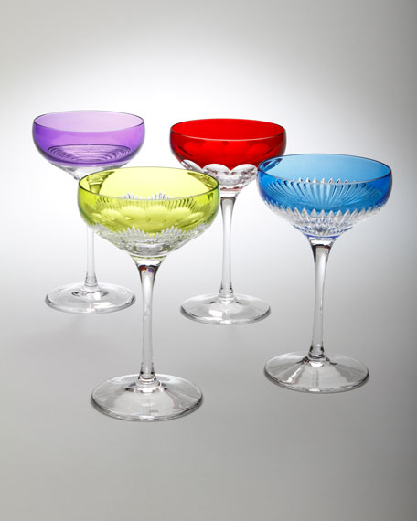 "Four Assorted ""Mixology"" Coupe Glasses"