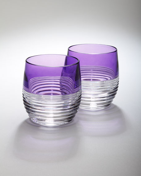 "Two ""Mixology"" Circon Purple Tumblers"