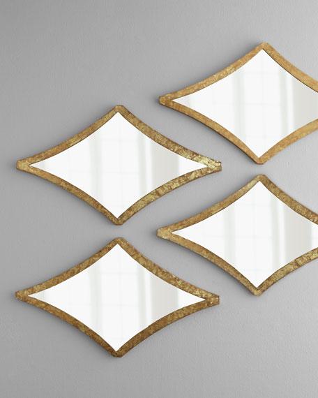 """Curved Diamond"" Mirror"
