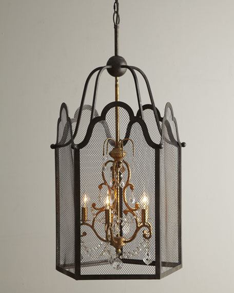 """Dark Nostalgia"" Metal Chandelier"