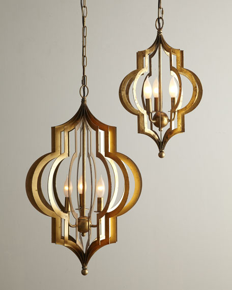"""Pattern Makers"" Small Golden Chandelier"