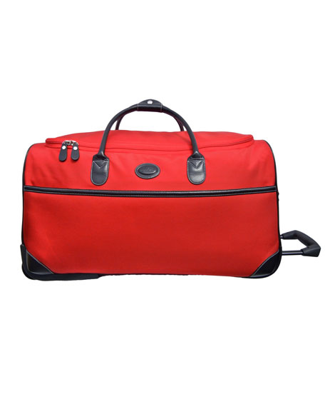 "Red Pronto 28"" Rolling Duffel"