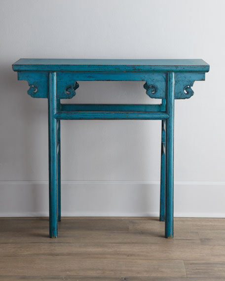 Blue Antique Wooden Table
