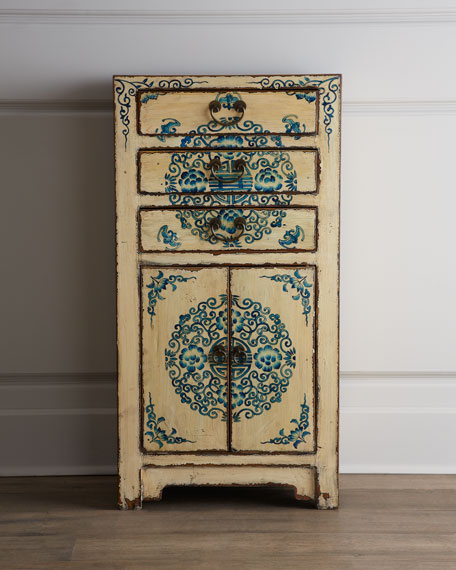 Three-Drawer Antique Wooden Cabinet