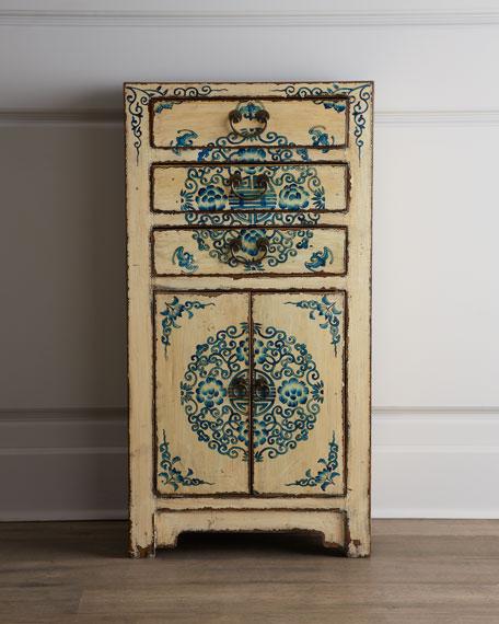 Three-Drawer Antique Wooden Cabinet