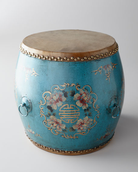 Vintage Drum, Blue