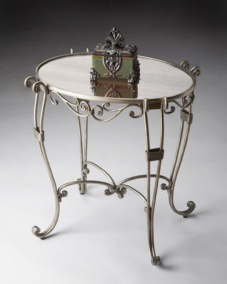 Metalwork Oval Side Table