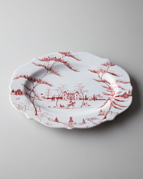 """Country Estate Ruby"" Large Holiday Platter"