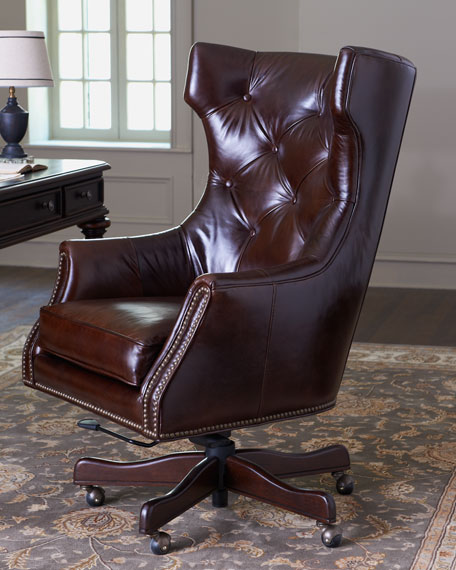 """Landon"" Leather Office Chair"