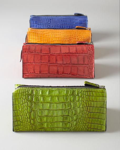 Crocodile-Embossed Travel Bag
