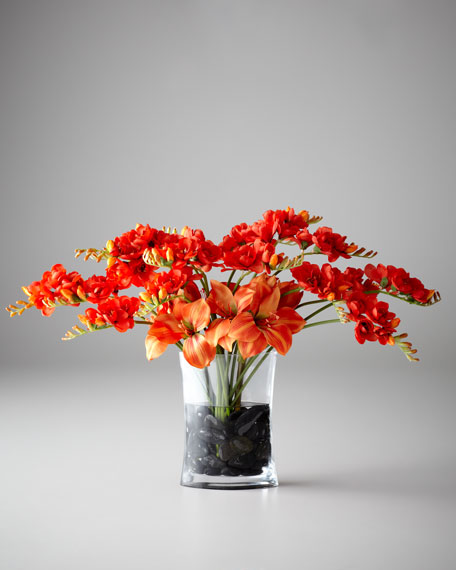 John-Richard Collection Freesia Charisma Faux Floral Arrangement